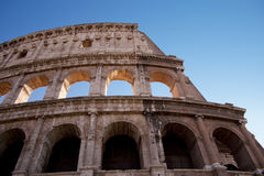The Colosseum in Rome. The Colosseum is the most famous Roman monument. In antiquity it was a great arena for fights between gladiators. It is considered a Royalty Free Stock Photo