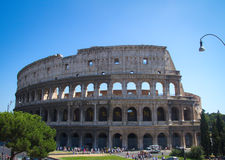 Colosseum Rome. Colosseum from in front of Metro, Rome Italy Royalty Free Stock Images