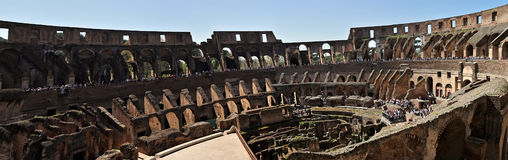 Colosseum, Rome. Panoramic view of the Colosseum in Rome, Italy Stock Images