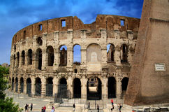 Colosseum Rome. Famous Roman Colosseum (amphiteatre) in Rome in summer time Royalty Free Stock Images