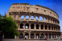 Colosseum Rome. Famous Roman Colosseum (amphiteatre) in Rome in summer time Royalty Free Stock Photography