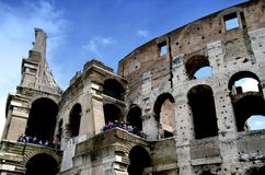 Colosseum in Rome. Famous Roman Colosseum (amphiteatre) in Rome in summer time Stock Image