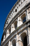 Colosseum, Rome. Detail of a section of the Colosseum in Rome stock image
