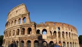 Colosseum  in Rome. Famous Colosseum  in Rome (Flavian Amphitheatre), Italy Royalty Free Stock Photos