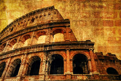The Colosseum with ancient texture Stock Image