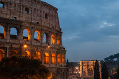Colosseum in Rome (Anfiteatro Flavio) Royalty Free Stock Photo