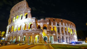 Colosseum in Rome - beautifully illuminated at night - Colosseo di Roma Royalty Free Stock Photo