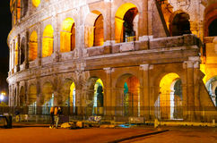 Colosseum in Rome - beautifully illuminated at night - Colosseo di Roma Royalty Free Stock Photos