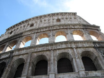 Colosseum in Rome with blue sky Royalty Free Stock Image