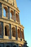 Colosseum Rome with blue white sky Royalty Free Stock Images