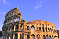 Colosseum of Rome city. Colosseum ruin of ancient Rome Stock Photos