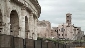 Colosseum in Rome stock video footage