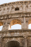 The Colosseum in Rome. The Colosseum or Coliseum, also known as the Flavian Amphitheatre is an oval amphitheatre in the centre of the city of Rome, Italy. Built Stock Photo