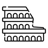 Colosseum in Rome stock illustration