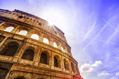 Colosseum Rome. Columns and arcs of the Colosseum in Rome stock photography