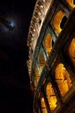 Colosseum, Rome, dans le clair de lune. Photo stock
