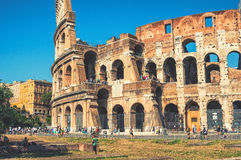Colosseum in Rome during the day Stock Photography