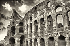 The Colosseum, Rome. Exterior of the Colosseum in Rome, January 2015 stock images