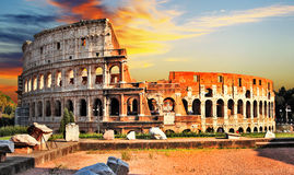 Colosseum, Rome. Great Colosseum on sunset, Rome royalty free stock photos