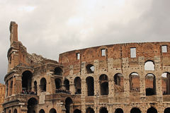 Colosseum in Rome. An historical and wonderful architecture in Rome Royalty Free Stock Photos