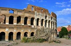 Colosseum Rome. Huge ancient amphitheatre Roman Colosseum Italy Stock Photo