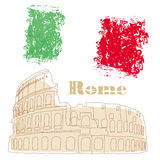 Colosseum in Rome. Illustration Royalty Free Stock Image