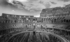 Colosseum in Rome. Inside of the Colosseum ruin in Rome stock photos