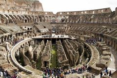 Colosseum Rome interior Royalty Free Stock Photo