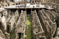 Colosseum Rome interior Stock Photography