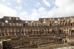 Colosseum Rome interior Stock Photography