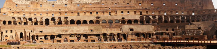 Colosseum in Rome internal panorama Royalty Free Stock Image