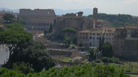 Colosseum in Rome, Italië stock footage