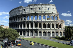 Colosseum - Rome - Italië royalty-vrije stock foto