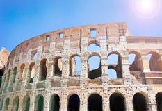 Colosseum in Rome, Italië - sluit omhoog, mobiele stijl Royalty-vrije Stock Fotografie