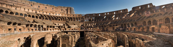 Colosseum in Rome, Italië, panoramafoto Royalty-vrije Stock Foto