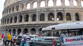 Colosseum ROME ITALIEN SEPTEMBER 03, 2011 Arkivfoto