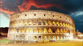 Colosseum Rome, Italien - Tid schackningsperiod lager videofilmer