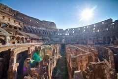 The Colosseum in Rome. Italy Stock Photography