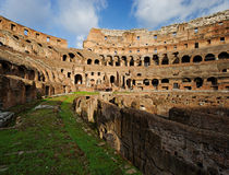 The Colosseum, Rome, Italy. The Colosseum or Roman Coliseum was originally known as Flavian Amphitheatre is considered one of the greatest works of Roman Royalty Free Stock Image