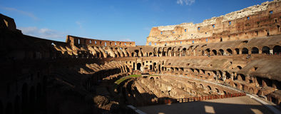 The Colosseum, Rome, Italy. The Colosseum or Roman Coliseum was originally known as Flavian Amphitheatre is considered one of the greatest works of Roman Stock Image