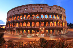 Colosseum,Rome, Italy. Colosseum at dusk.Landmarks of Rome.Italy stock image
