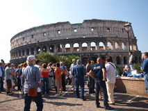 Colosseum, Rome, Italy. Tourists visiting Colosseum, Rome, Italy Stock Photography