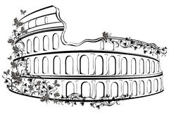 Colosseum in Rome, Italy. Amphitheater Colosseum in Rome, Italy Royalty Free Stock Photography