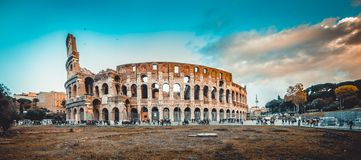 Colosseum in the Rome. Italy royalty free stock photos