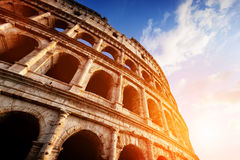 Colosseum in Rome, Italy. Amphitheatre in sunset light. Royalty Free Stock Image