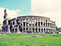 Colosseum in rome, italy. Ancient colosseum in rome, capital of italy Stock Photos