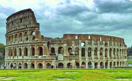Colosseum in Rome, Italy. Ancient Roman Colosseum is one of the main tourist attractions in Europe stock images