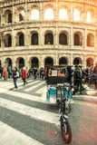 Colosseum, Rome. Italy. Arches and crowds of people. Stock Photo