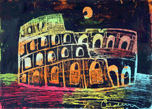 Colosseum stock illustration