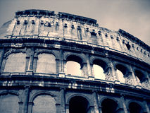 Colosseum in Rome, Italy in black and white; dramatic, retro style stock photos